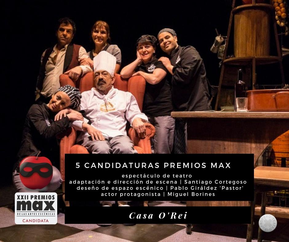 Casa O'Rei obtiene cinco candidaturas a los Premios Max
